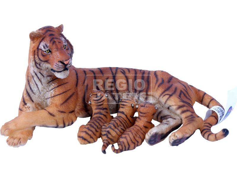 kép nagyítása Papo fekvő tigrisanya kölykeivel 50156