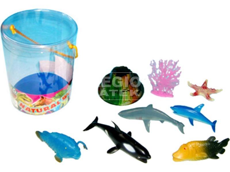 Műanyag tengeri állatok 8 darabos készlet