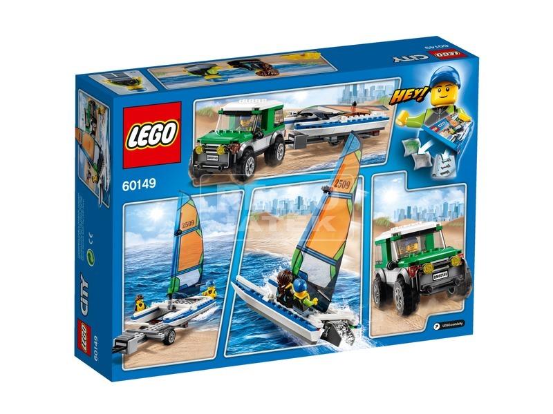 kép nagyítása LEGO® City 4x4 terepjáró katamaránnal 60149