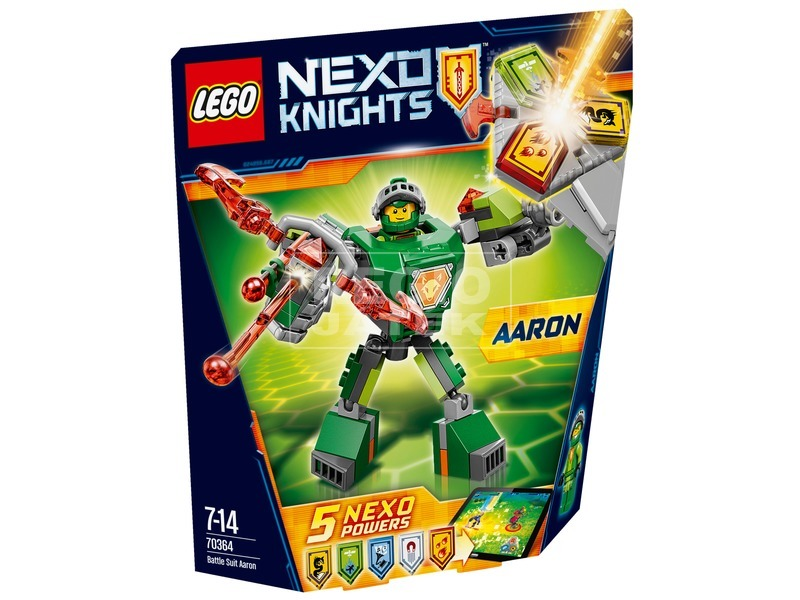 LEGO Nexo Knights Aaron harci öltözéke 70364