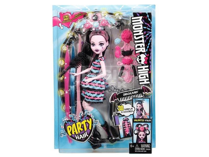 Monster High hajmeresztő Draculaura baba - 29 cm