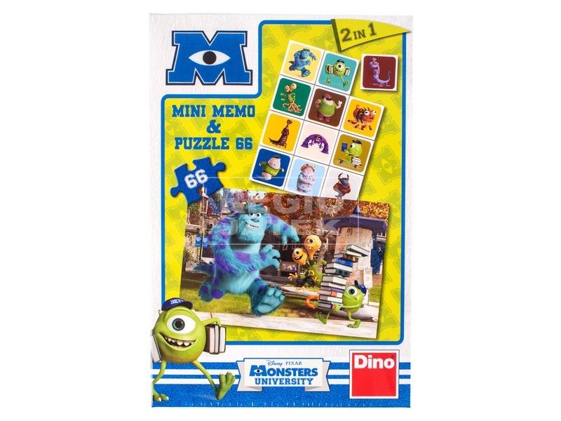 Szörny egyetem 66 darabos puzzle és memóriajáték
