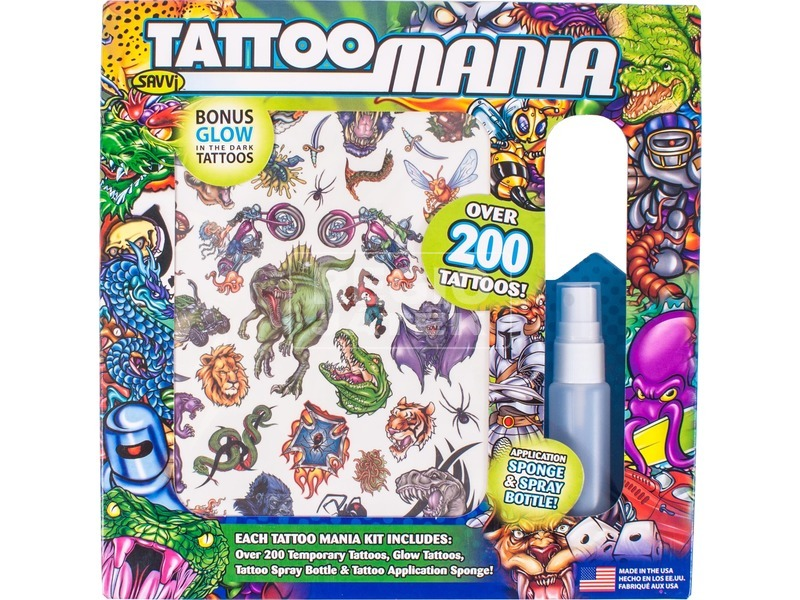 Deluxe tetováló készlet fiúknak 200 darabos készlet