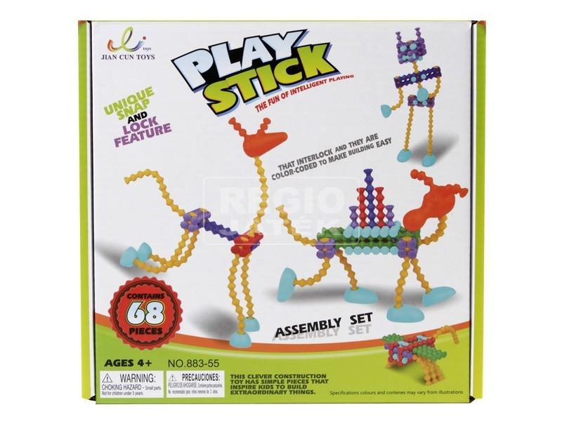 Play Stick rudak 68 darabos építőjáték