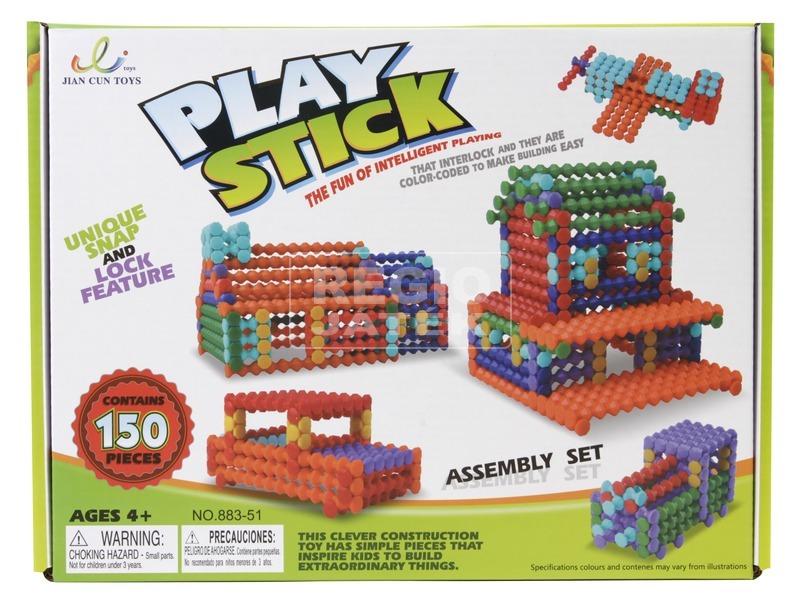 Play Stick rudak 150 darabos építőjáték