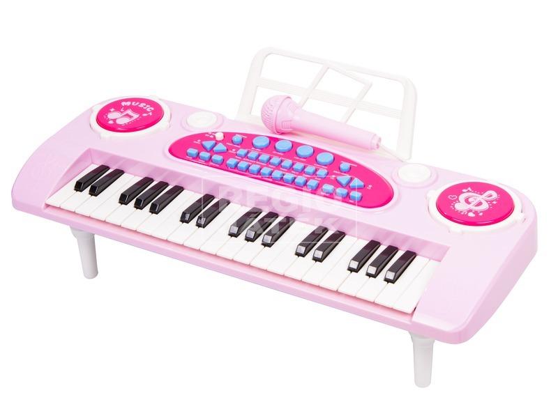Szintetizátor 37 gombos mikrofonnal - rózsaszín