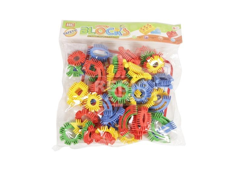 Műanyag építőjáték - 80 db