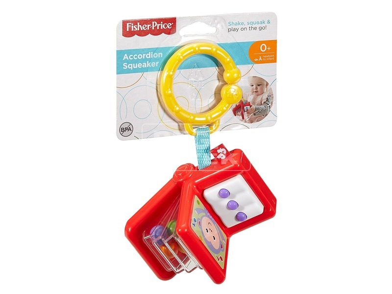 Fisher-Price harmonika csörgő