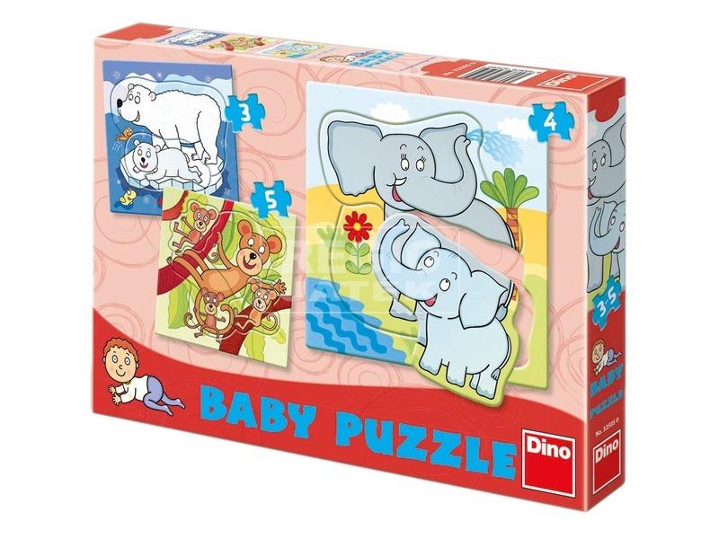Állatkert 3, 4 és 5 darabos bébipuzzle