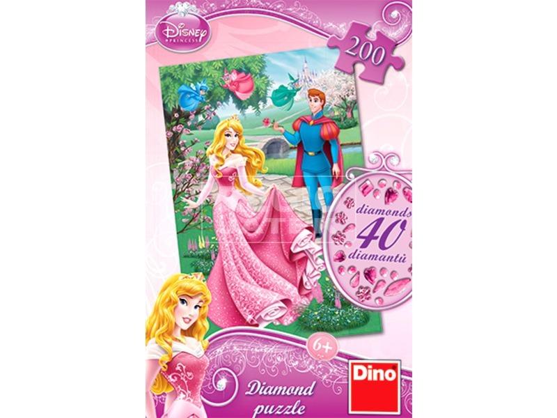 Disney hercegnők Csipkerózsika 200 darabos puzzle ékkövekkel