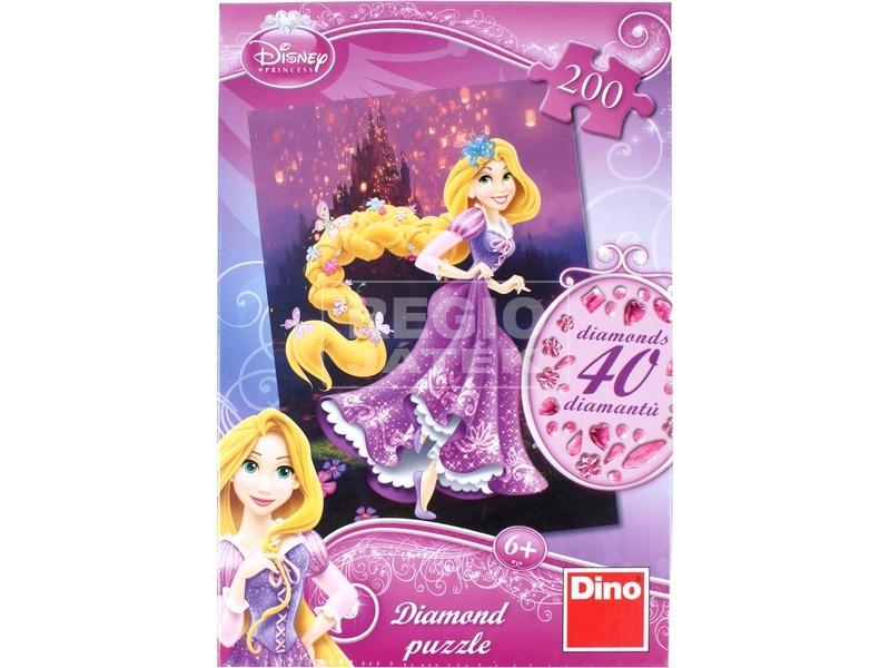Disney hercegnők Aranyhaj 200 darabos puzzle ékkövekkel