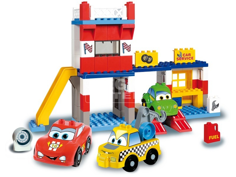 kép nagyítása Autóverseny 108 darabos műanyag építőjáték