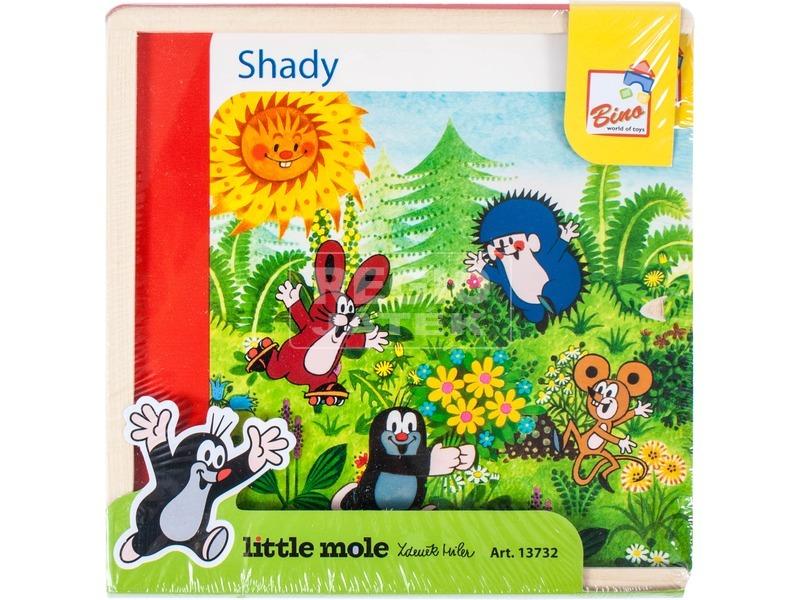 Kisvakond kinek az árnyéka 40 darabos fa puzzle
