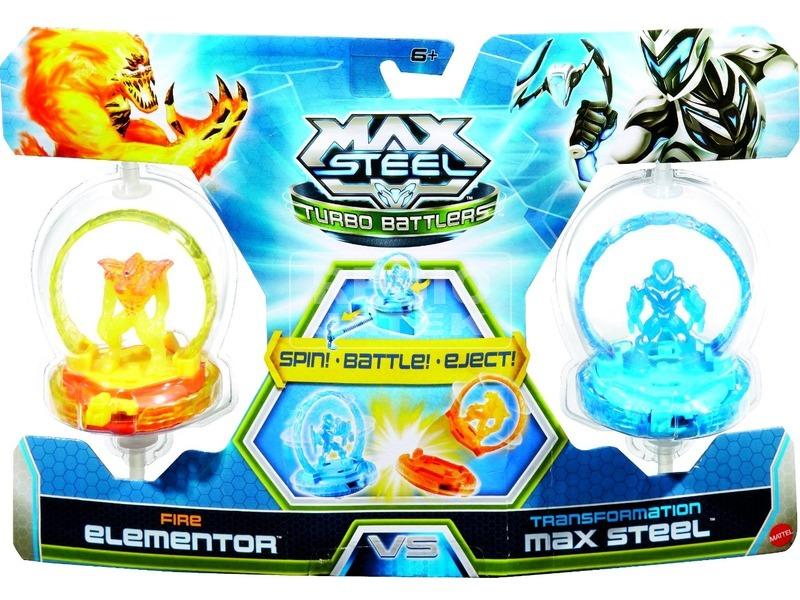 Max Steel: harcos pörgettyű 2 darabos készlet - többféle