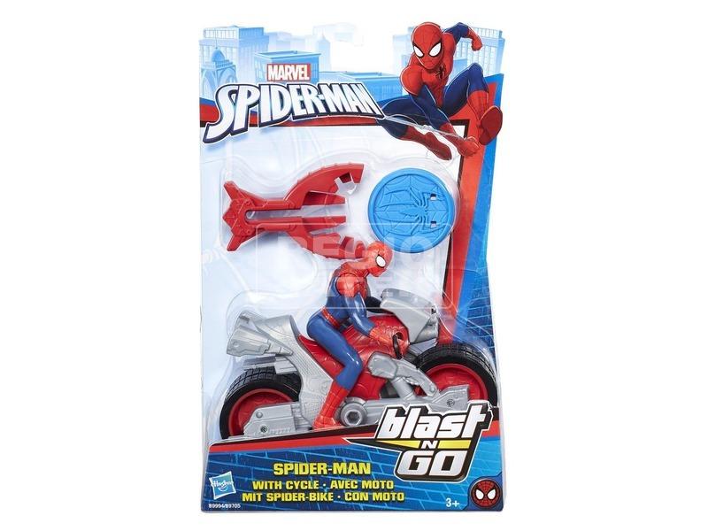 Pókember járgány fegyverrel - 14 cm, többféle