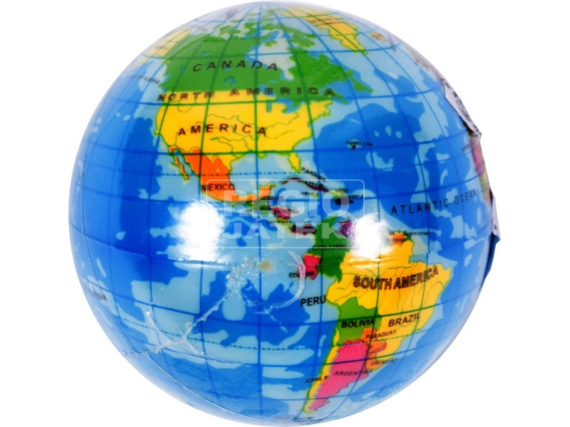 Puha földgömb labda, 7, 5 cm