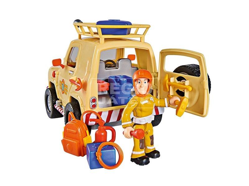 kép nagyítása Sam a tűzoltó Tom 4x4 terepjárója figurával