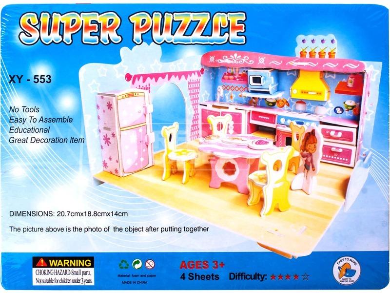Összerakható babakonyha 3D puzzle