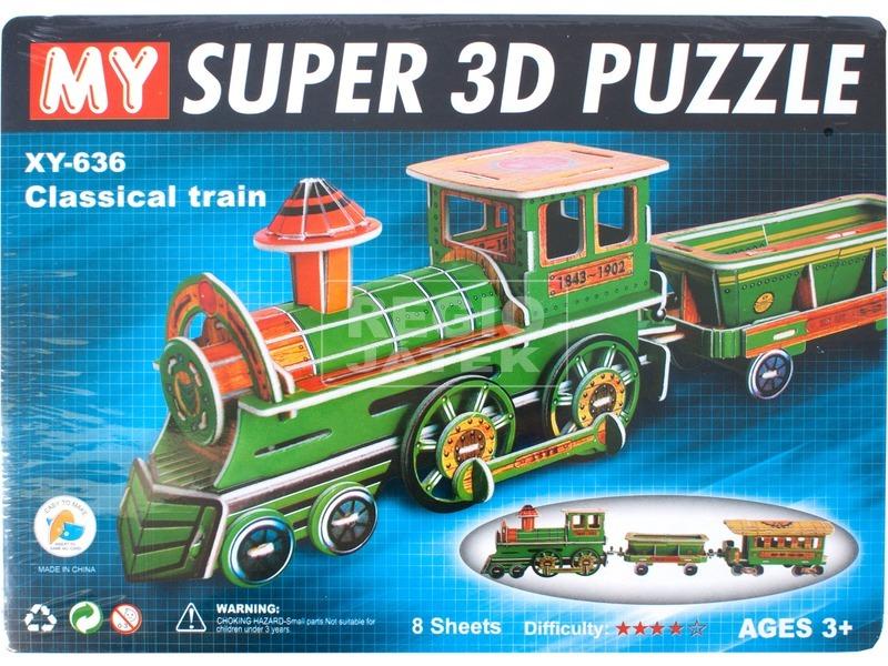 Összerakható vonat 3D puzzle