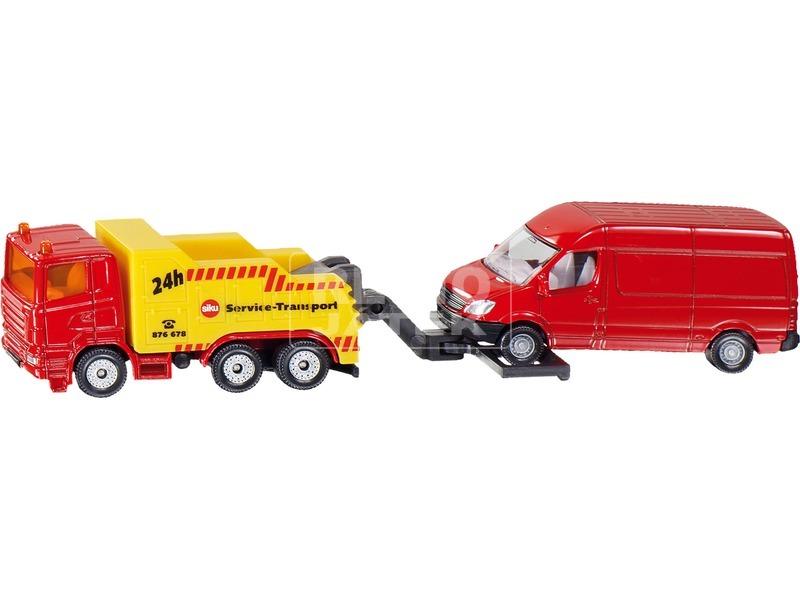 Autómentő teherautóval