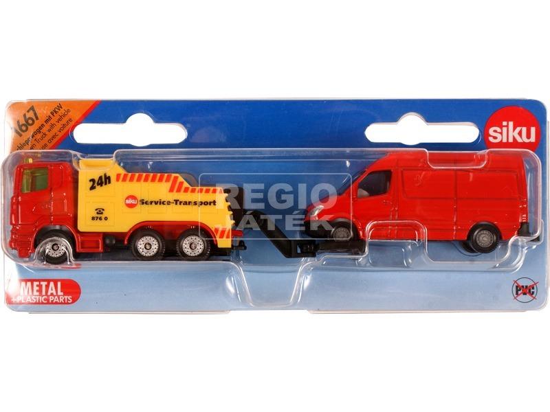 kép nagyítása Siku Scania vontató furgonnal 1:87 - 1667