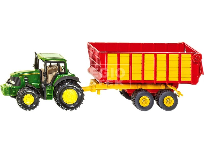 Siku: John Deere traktor pótkocsival 1:55 - 1650