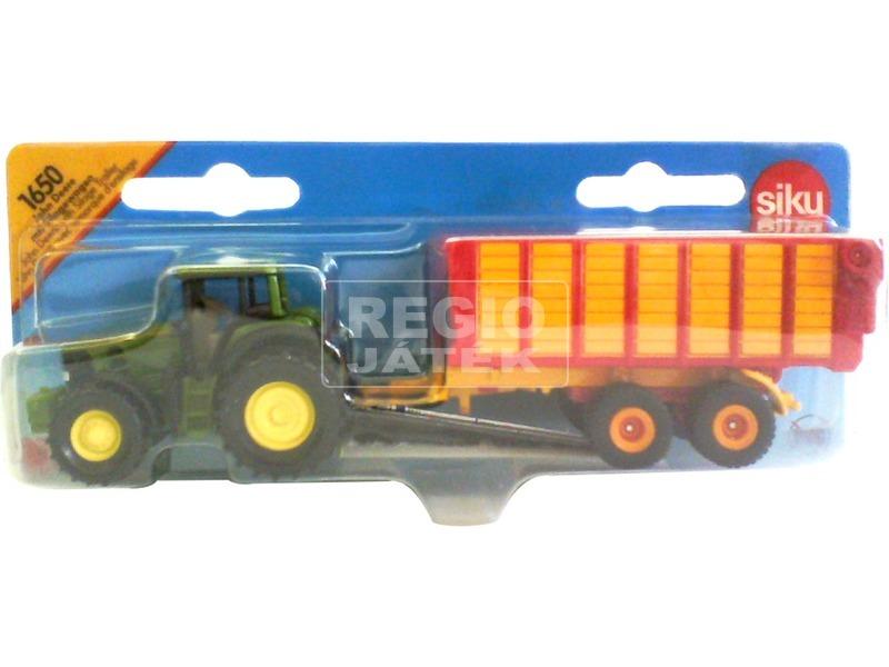 kép nagyítása Siku: John Deere traktor pótkocsival 1:55 - 1650