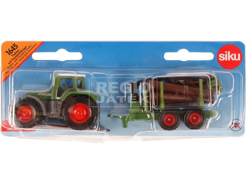 Siku: Claas traktor rönkszállító utánfutóval 1:87