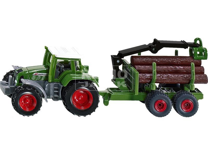 kép nagyítása Siku: Claas traktor rönkszállító utánfutóval 1:87