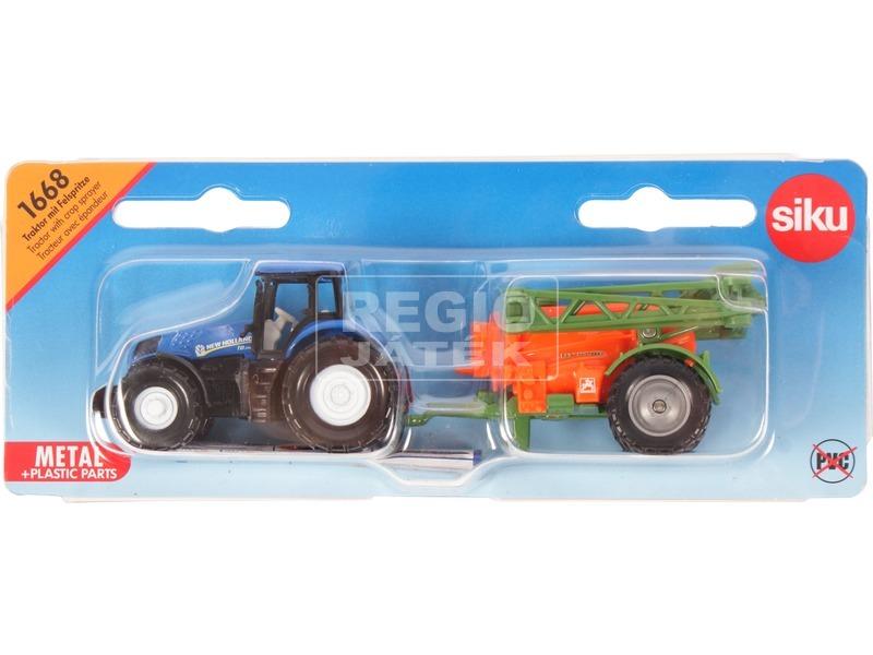kép nagyítása Siku: New Holland traktor permetező utánfutóval 1:87