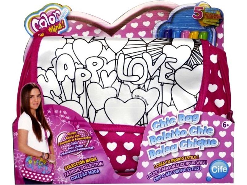 Color Me Mine szíves színezhető party táska