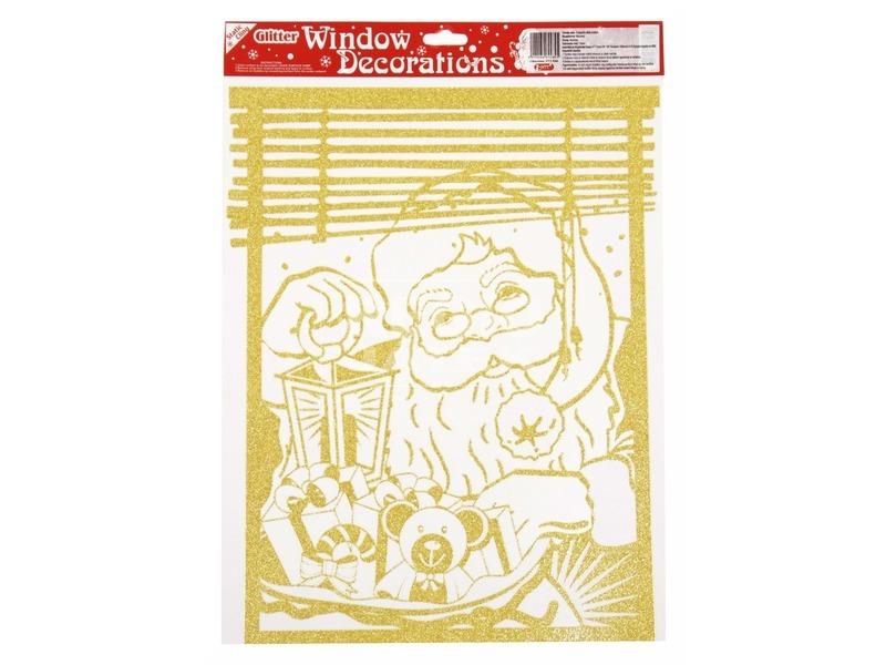 Mikulás ablakmatrica - nagy