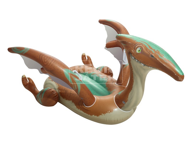 Dinó lovagló strandmatrac - 135 x 198 cm