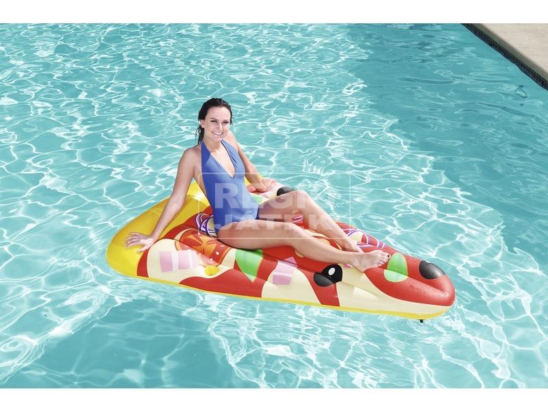 kép nagyítása Bestway 44038 Pizza felfújható matrac 188 x 130 cm