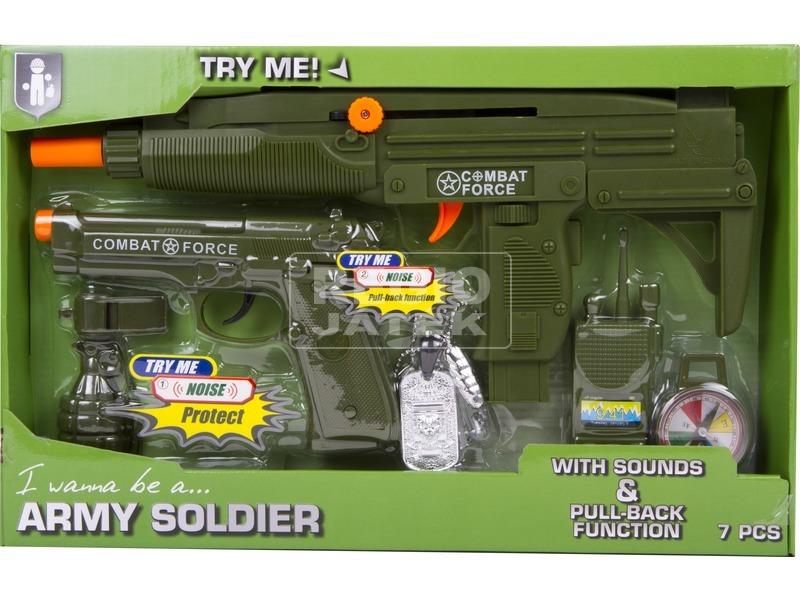 Katonai játékszett 7 db /csomag