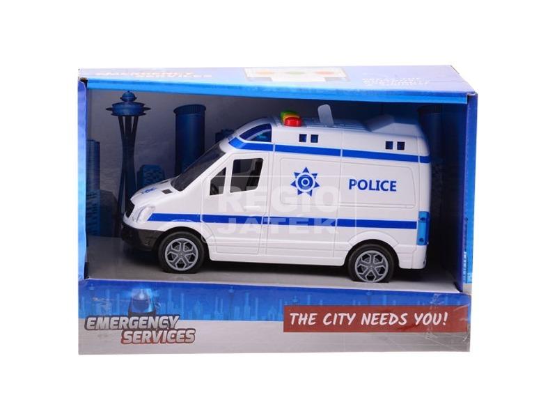 Rendőrautó és mentőautó