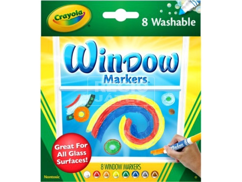 Crayola ablakfestő filctoll 8 darabos készlet