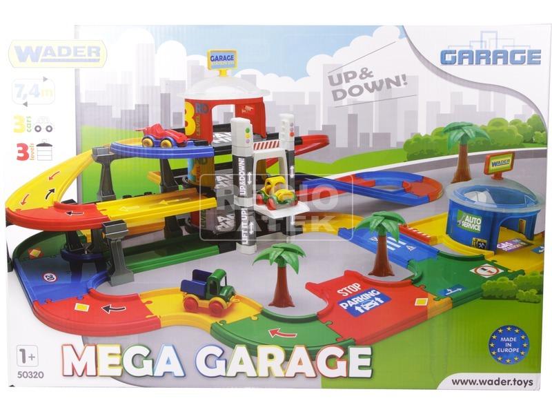 kép nagyítása Wader Kid Cars 3D Mega garázs készlet - 7 m