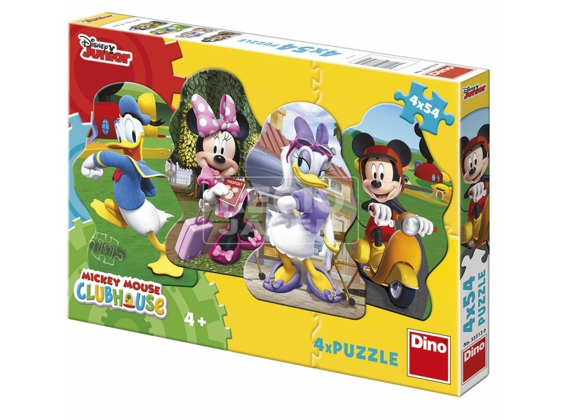Mikiegér és barátai 4 x 54 darabos puzzle