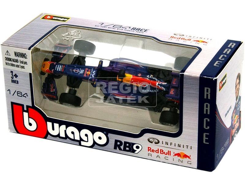 kép nagyítása Bburago Red Bull F1 RB9 versenyautó modell 1:64