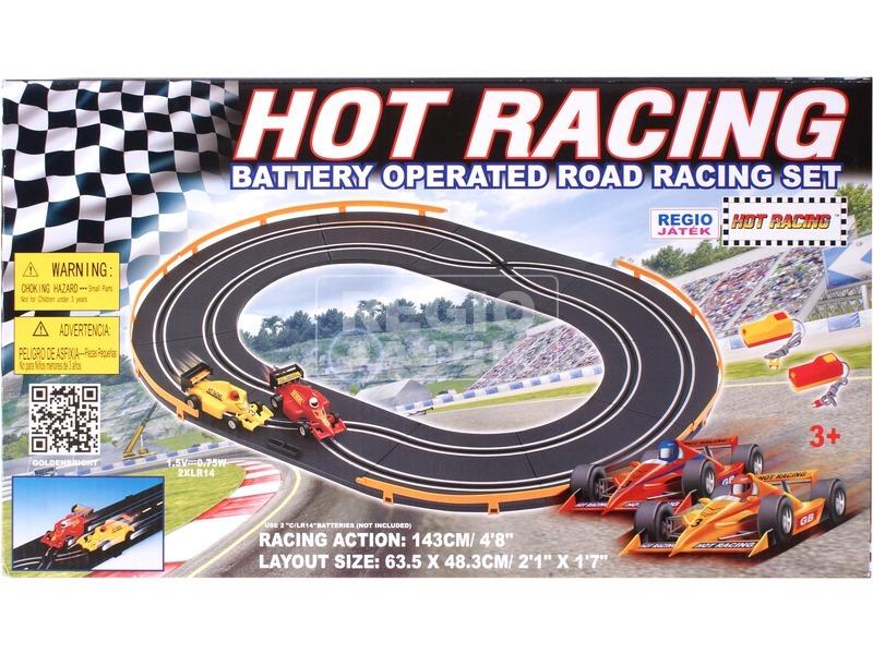 kép nagyítása Hot Racing elemes autópálya - 143 cm