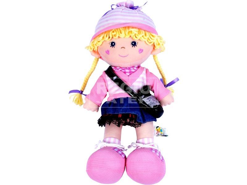 Rongybaba rózsaszín ruhában - 46 cm