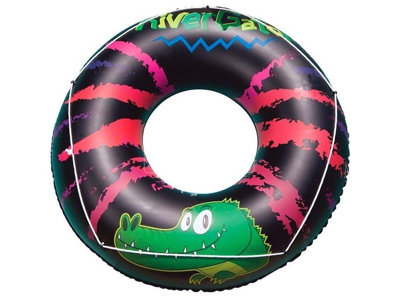 kép nagyítása Krokodilos úszógumi - fekete, 119 cm