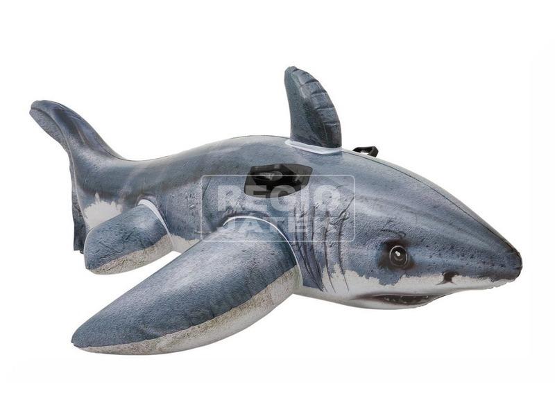 kép nagyítása Óriás fehér cápa lovagló - 173 x 107 cm
