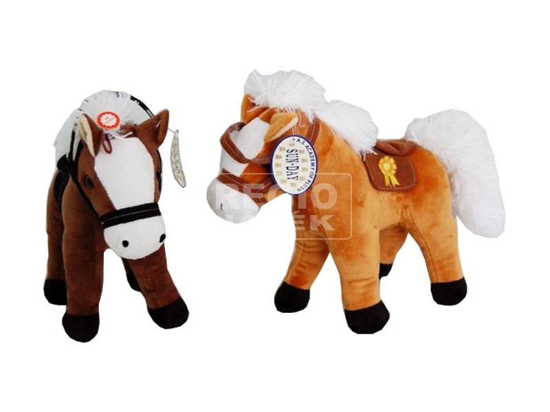 Ló álló plüssfigura hanggal - 25 cm, többféle