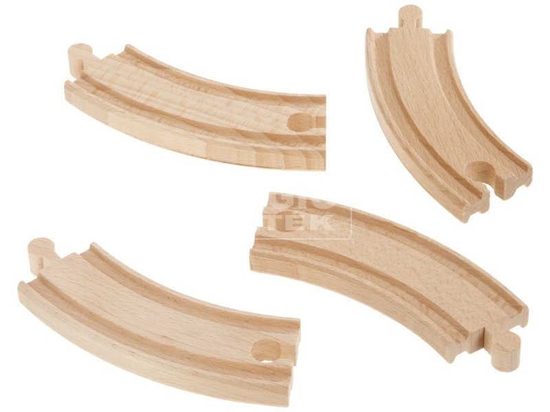 Eichhorn fa kanyarodó sín 4 darabos készlet