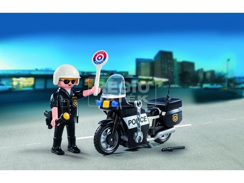 kép nagyítása Playmobil Motoros rendőrjárőr készlet 5648