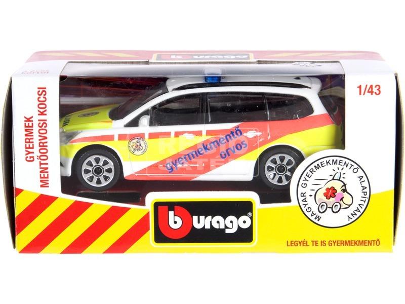 kép nagyítása Bburago gyermek mentőorvosi kocsi 1:43