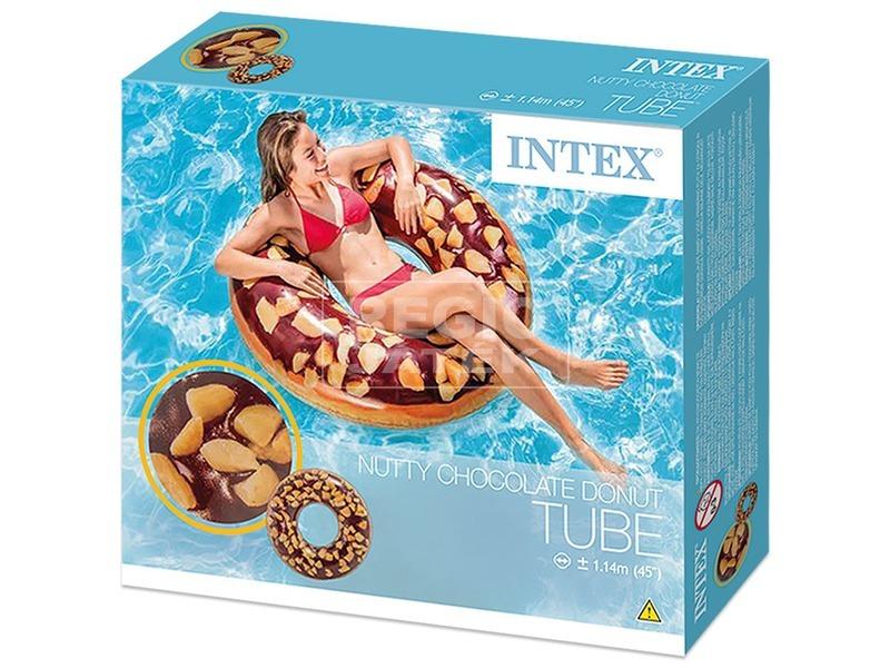 Intex 56262 Mogyorós csokis fánk úszógumi - 114 cm