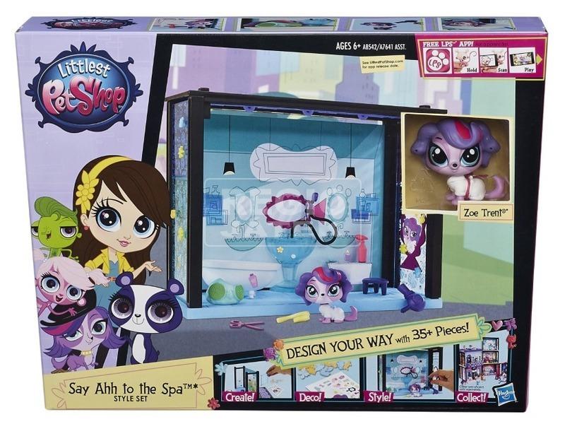 Littlest Pet Shop: szobák játékkészlet - többféle